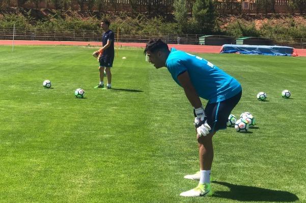 Fran Sanz durante un entrenamiento