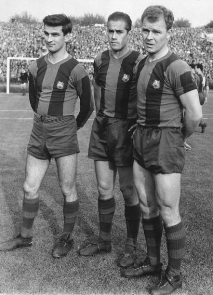 Sandor Kokcsis, Luis Suárez y Ladislao Kubala