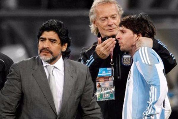 Maradona, Signorini y Messi.