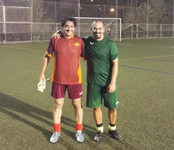 futbolista con sobrepeso