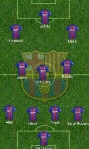 El 4-3-3 en flecha del Barça