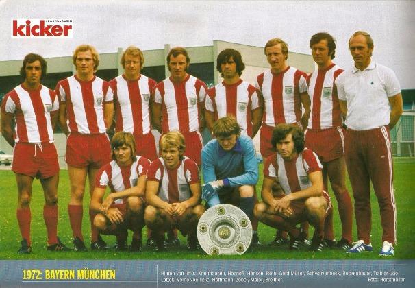 Imagen de Kicker del Bayern 1972