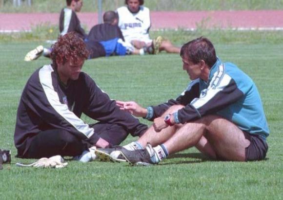 Falagán en su época en el Mérida entrenado por Paco Herrera
