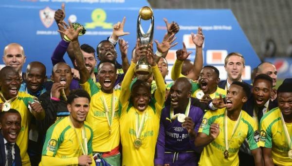 Mamelodi Sundowns tras ganar la Champions Africana