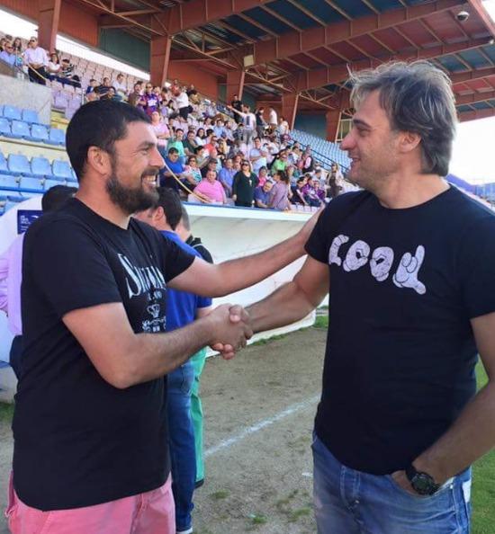 Diego Tristán junto a José Luis Diezma