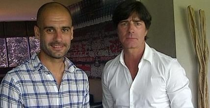 Pep Guardiola y Joachim Low